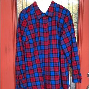 NWOT Talbots Classic Flannel Shirt in Plaid